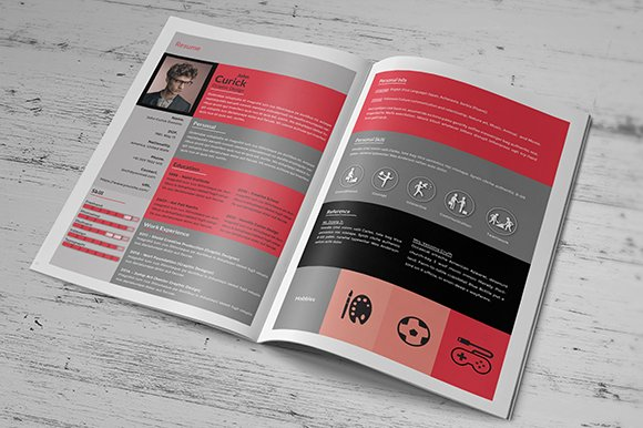 creative resume booklet resume templates creative market