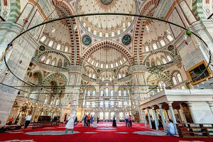 Inside the Fatih Mosque