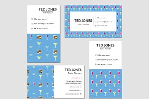 business cards party planner