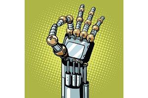 Robot OK okay gesture hand