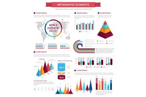 Infographic element set for presentation design