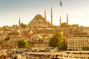 Istanbul on a hot summer day