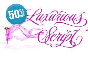 Luxurious Script Sale 50% OFF