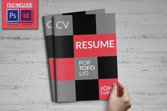 creative resume booklet resume templates creative market