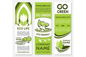 Eco business banner template for ecology design