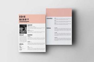 Modern Resume Template   The Edie