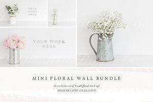 The Wall Floral stock photo BUNDLE