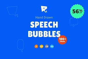 Hand Drawn Speech Bubbles - 56% OFF