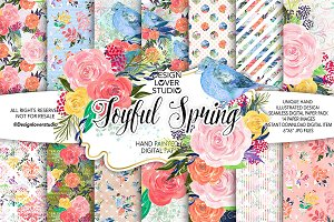 Acrylic Joyful Spring DP pack