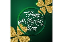 Vector illustration of happy saint Patricks day greeting poster