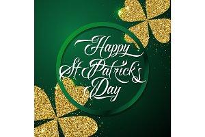 Vector illustration of happy saint Patricks day greeting poster