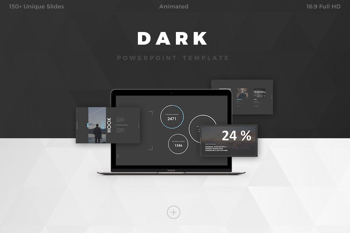 Dark powerpoint template presentation templates creative market toneelgroepblik Choice Image