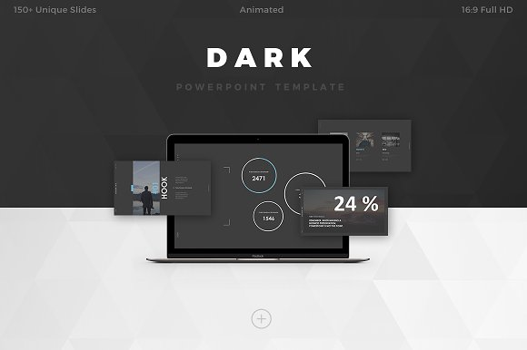 Dark powerpoint template presentation templates creative market toneelgroepblik Choice Image