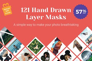 121 Hand Drawn Layer Masks - 57% OFF