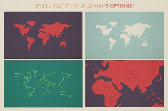 Simple world map illustrations creative market simple world map illustrations gumiabroncs Choice Image