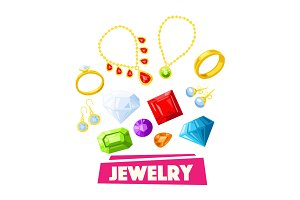 Jewelry and precious gemstone poster design