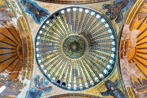 The central dome of the Hagia Sophia