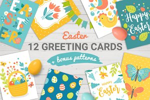 12 Easter Cards + Bonus Patterns