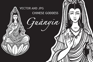 Guanyin Chinese Goddess of charity.