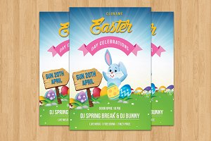Easter Party Flyer Template-V509