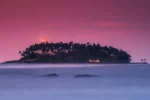 Lighthouse on an island Barberun TIF