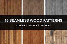 15 Seamless Wood Patterns