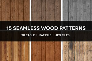 15 Seamless Wood Patterns