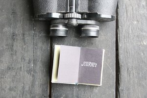 Journey retro concept. Hipster vintage accessories for travel.
