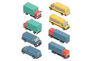 Isometric delivery vans