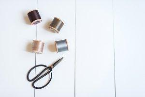 Feminine Sewing flat lay