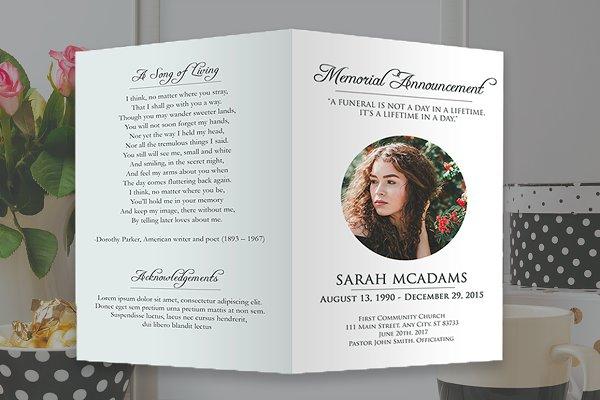 Funeral Program Photoshop Template