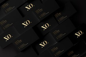 Black x Gold Business Card