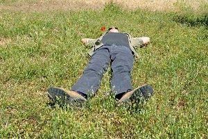 Man Lying Grass