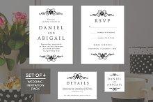 Wedding Invitation Template 4-Pack