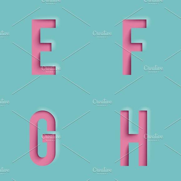 Paper Cutout Letters