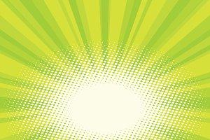 Green natural eco sunrise pop art background