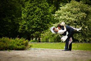 Leg on the groom's
