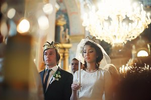 Newlyweds in the crowns