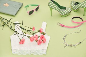 Fashion Design Luxury Clothes Accessories Outfit.