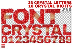 Crystal Alphabet and digits