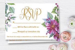 Apple blossom Wedding RSVP DiY