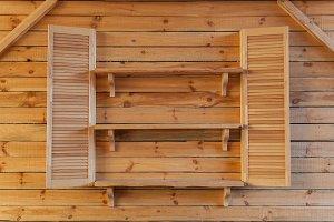 Wooden interior.