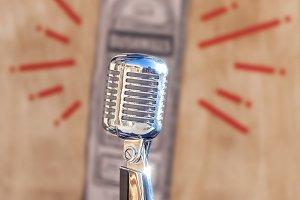 Vintage silver microphone
