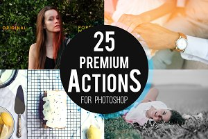 25 Premium Photoshop Actions