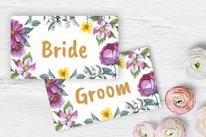 Apple blossom Wedding Place card DiY
