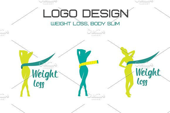weight loss logo logo templates creative market