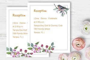 Apple blossom Wedding Reception DiY