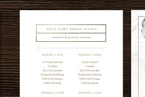 Newborn Photography Pricing Template