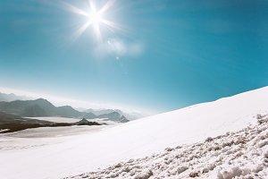 Mountains range Landscape glacier