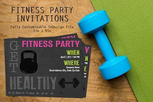 Workout Fitness Party Invitation